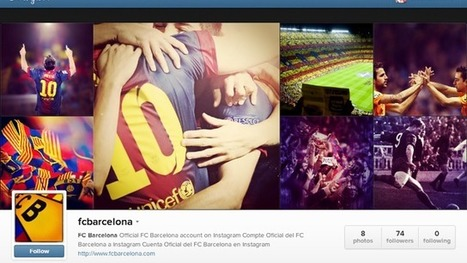 FC Barcelona has launched their official profile on Instagram | futbol | Scoop.it