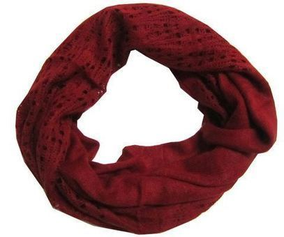 Cozy Red Knitted Infinity Tube Scarf | Chicastic Scoops | Scoop.it