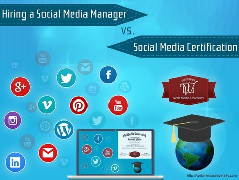 Hiring a Social Media Manager vs. Social Media Certification | Social Media Training & Certifications | Scoop.it