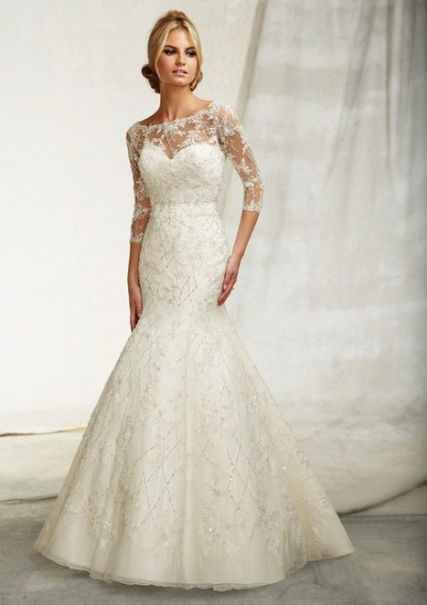 Tank Top Chapel Train Lace Trumpet Mermaid Wedding Dress Wmr0010   Alizee's Fashion World   Scoop.it