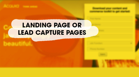 How to Create Ultimate Lead Capture Landing Pages | Business & Marketing | Scoop.it