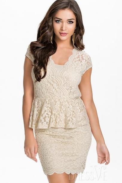 Solid Color Flower Ruffle Hem Bodycon Dress | Dressve fashion | Scoop.it