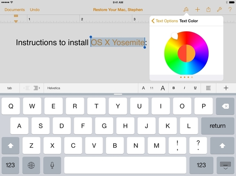 Apple Updates iWork Suite with Yosemite Redesign, iCloud Drive Support, Deeper iOS 8 Integration | Books In A Creative World | Scoop.it