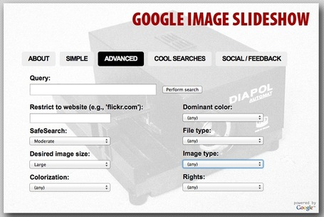 Instant Web Slideshow on Any Topic: Google Image Slideshow | Managing options | Scoop.it