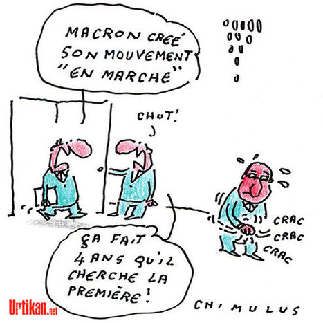 Emmanuel Macron lance son mouvement politique «En marche», «ni à droite ni à gauche» | Dessinateurs de presse | Scoop.it