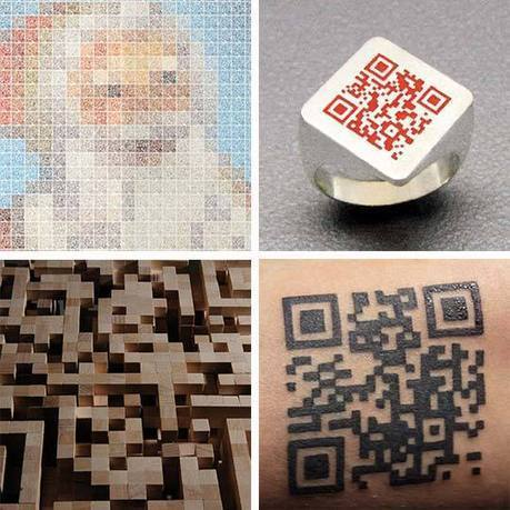 QR Codes in Fashion & Art: Perfect for the Holidays | Apartment Therapy Unplggd | QR Code Marketing | Scoop.it