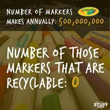 Crayola, Make Your Mark! Set up a marker recycling program | HSIE Stage 1:Explains how people and technologies in systems link to provide goods and services to satisfy needs and wants | Scoop.it