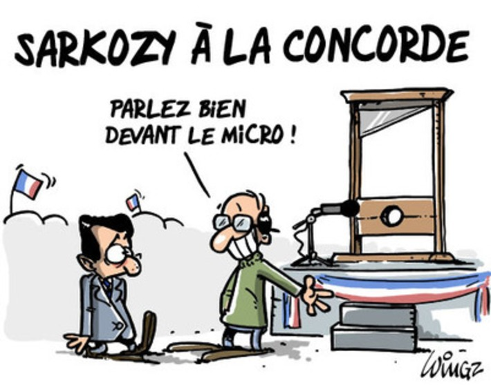 Meeting de Nicolas Sarkozy sur la place de la concorde | Baie d'humour | Scoop.it