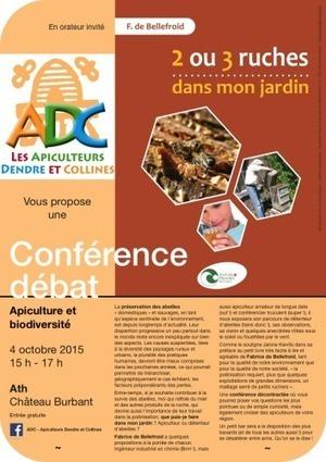 Ath: L'Apiculture et la biodiversité seront au centre du débat - Sudinfo.be   Pays Vert   Scoop.it