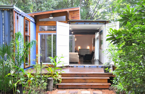 daily timewaster: I'd call this a successful reuse of two shipping containers to make a cabin. | Mr Brown's Design and Technology | Scoop.it
