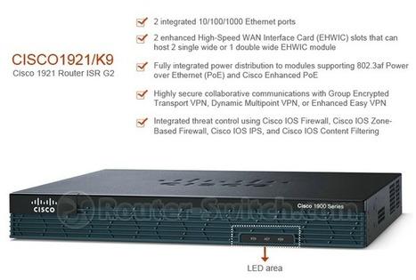 CISCO 1921/K9 - Cisco ISR G2 1900 Série Routeur | Cisco | Scoop.it