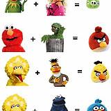 Si mezclas dos Muppets obtienes un personaje de Angry Birds   VIM   Scoop.it