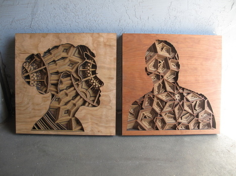 New Amazingly Intricate, Laser-Cut Wood Relief Silhouettes by Gabriel Schama   Le It e Amo ✪   Scoop.it