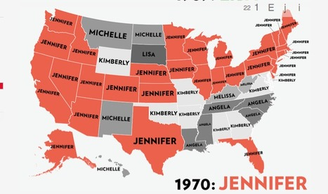 Map: Six Decades of the Most Popular Names for Girls, State-by-State | Interesting Reading to learn English -intermediate - advanced (B1, B2, C1,) | Scoop.it