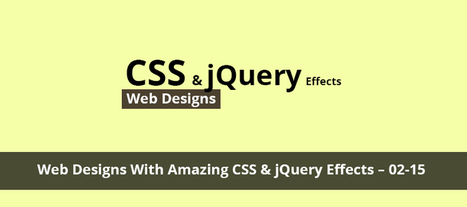 20+ Web Designs With Amazing CSS & jQuery Effects | webdesign and technologies | Scoop.it