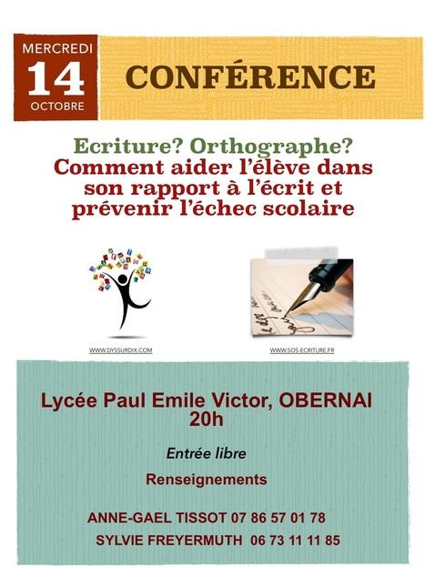 Conférence : Ecriture, Orthographe en Alsace | Les troubles de l'écriture | Scoop.it