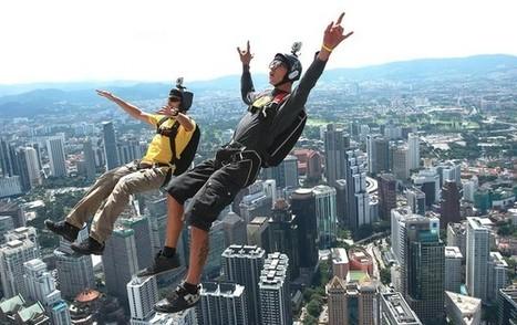 Saltadores encaram queda de 421m em evento de base jump na Malásia | esportes | Scoop.it