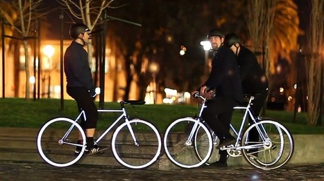 This bike glows in the dark when headlights hit it   Technology Education and Sustainable Systems   Scoop.it