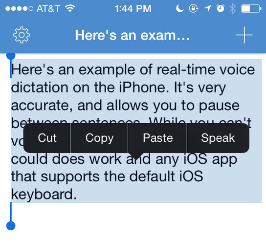 Type Superfast With Real Time Voice Dictation in iOS 8