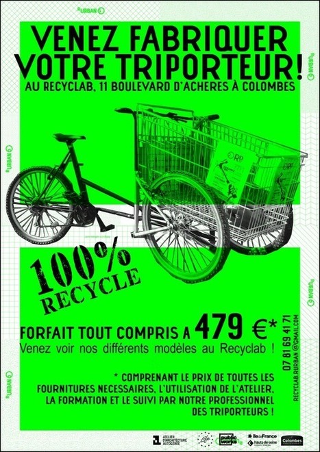 Venez fabriquer votre triporteur au Recyclab ! | R-Urban | triporteur | Scoop.it