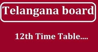 Telangana Board Intermediate time table exam from 9th March 2015 by Ankit Pareek | Updates By Arti Sharma | Scoop.it