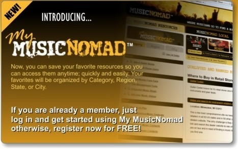 Music Nomad | Discover Musician Resources | Produce / Sell / Support Music | WhiteLighters | Audiogasm | Scoop.it