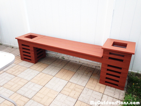 DIY Bench with Two Planters | MyOutdoorPlans | Free Woodworking Plans and Projects, DIY Shed, Wooden Playhouse, Pergola, Bbq | Garden Plans | Scoop.it
