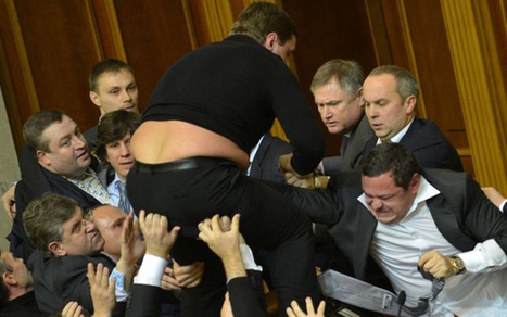 Mass fight between MPs breaks out in Ukraine's parliament | No Such Thing As The News | Scoop.it