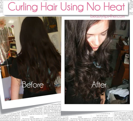 How to Curl your Hair with a Sock! No Heat Needed   Beauty Tips 4 Her   Scoop.it