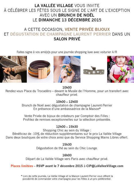 Evénement VIP Vente Privée Comptoir des Filles et Laurent Perrier Vallée Village - Comptoir des Filles | Comptoir des Filles | Scoop.it