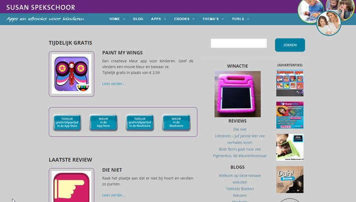 Website Susan Spekschoor - met o.m. apps voor de iPad - helemaal vernieuwd! | Educatief Internet - Gespot op 't Web | Scoop.it