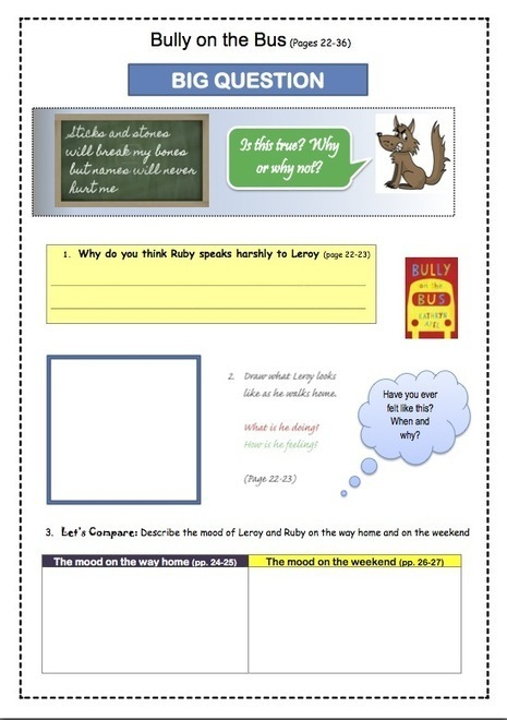 New Bully on the Bus Teacher Resources | Read Write Draw | Scoop.it