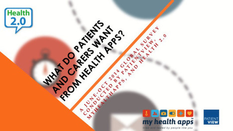 What do patients and carers want from health apps? Summary of outcomes of global survey by PatientView | eHealth - Social Business in Health | Scoop.it