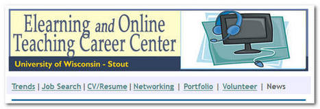 NEW: E-Learning and Online Teaching Career Center | E-Learning and Online Teaching | Scoop.it