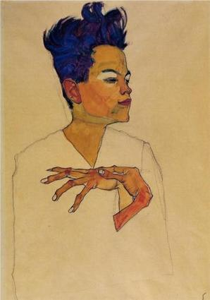 Self Portrait with Hands on Chest - Egon Schiele | Art Collection | Scoop.it