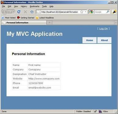ASP.NET MVC Quick Start Tutorial - Create a Small ASP.NET MVC application step by step - CodeProject | Good Morning | Scoop.it