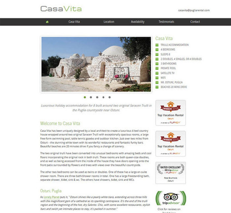 Holiday website and business website design portfolio from Handcrafted Websites | Holiday cottages | Scoop.it