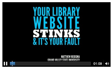 Matthew Reidsma : Your Library Website Stinks and It's Your Fault - audio recording | The Information Professional | Scoop.it