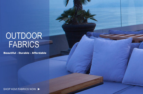 High Performance Outdoor Furniture Upholstery Fabric   Elegant Collection of Durable Microfiber Fabric from Kovi   Scoop.it
