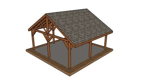 20x20 Picnic Shelter Plans | MyOutdoorPlans | Free Woodworking Plans and Projects, DIY Shed, Wooden Playhouse, Pergola, Bbq | Garden Plans | Scoop.it