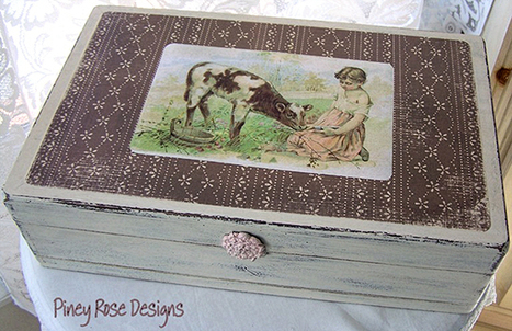 Upcycled Wooden Box - Reader Featured Project - The Graphics Fairy   Decoupage   Scoop.it