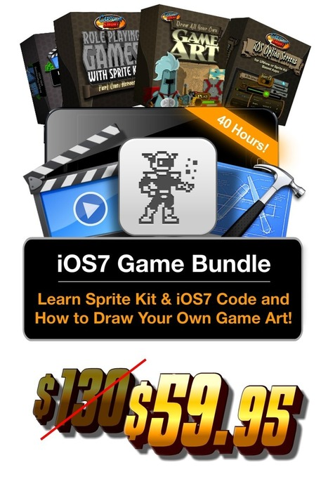 iOS7 Game Development Bundle - Sprite Kit Programming Tutorials and How to Draw Your Own Game Art. | Programming Cocos2D for iOS | Scoop.it