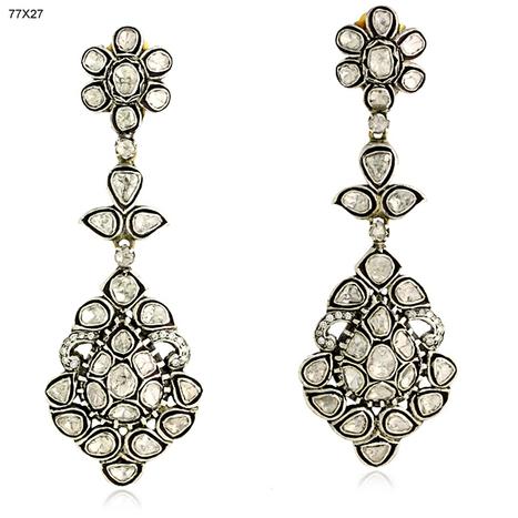 Bezel Set Uncut Diamond Dangle Earrings | Diamond Jewelry | GemcoDesigns | Pave Diamond Bangle | Diamond Jewelry | GemcoDesigns | Scoop.it