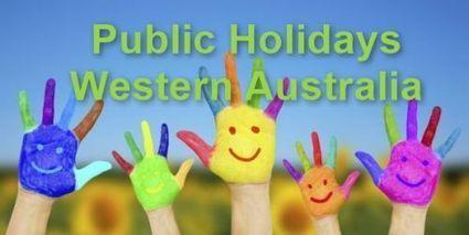 Public Holidays WA | General | Scoop.it