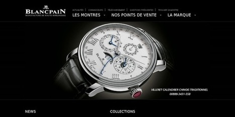 15 webdesign autour de l'univers des montres - webdesign-inspiration | #websdesign inspiration | Scoop.it