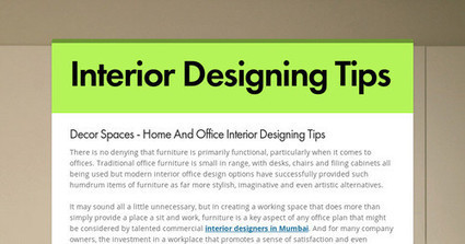 Decor Spaces - Home And Office Interior Designing Tips | submission | Scoop.it