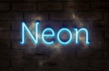 Create a Realistic Neon Text Effect in Photoshop | Photoshop Text Effects Journal | Scoop.it