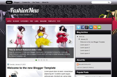 FashionNew | Blogger themes | Scoop.it