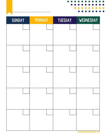 Free Printable - Blogger Planner Calendar - Monthly • Oombawka Design Crochet | Blogging & Social Media | Scoop.it