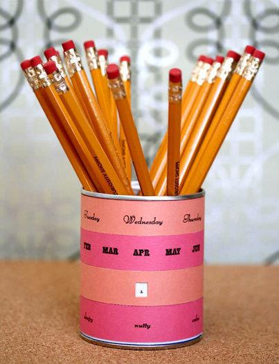 Récup Boite de conserve - Pot à crayons calendrier | ...récup | Scoop.it